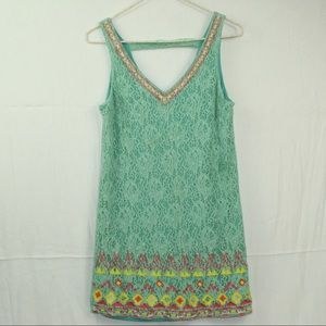 Flying Tomato anthropology green crochet size s